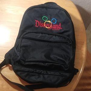 Disneyland Black Backpack